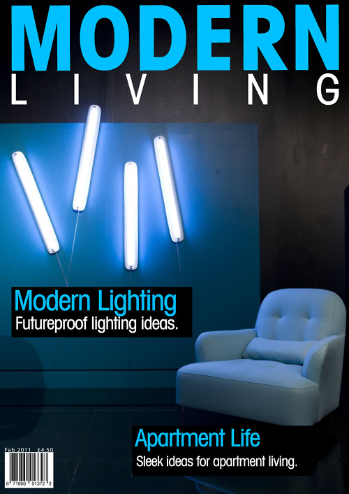 Modern Living Magazine Cover JH B Graphic Design